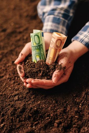 Das Geld liegt auf dem Boden. Man braucht es nur aufzuheben.